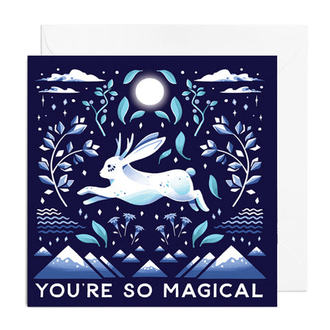 You're Magical Jackalope Greetings Card