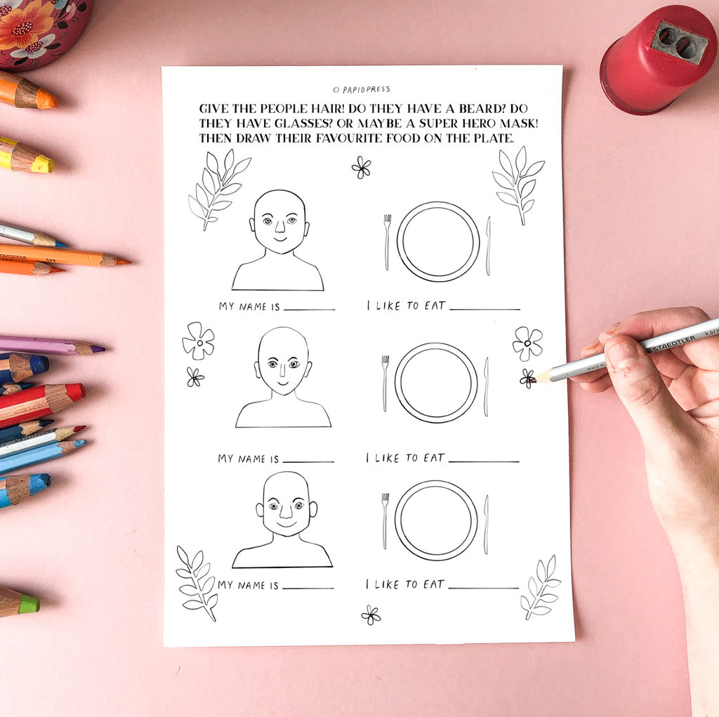 Free Colouring In Sheet - People