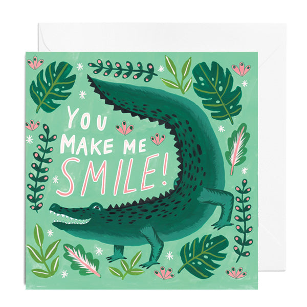 You Make Me Smile Greetings Card