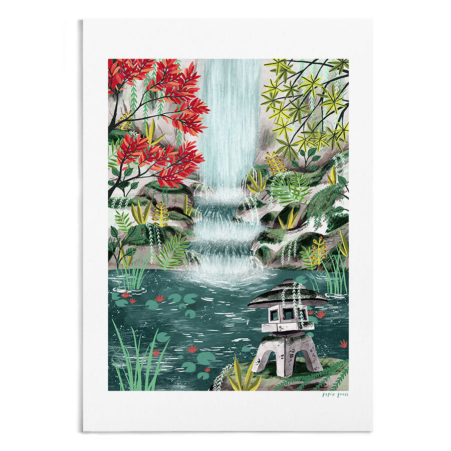 Shrine by the Waterfall - A4 / A3 Artists Print