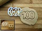 Number 100 Cookie Cutter