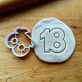 Number 18 Cookie Cutter/Dishwasher Safe