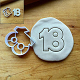 Number 18 Cookie Cutter/Creates Center Cut-Out/Dishwasher Safe