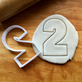 Number 2 Cookie Cutter/Dishwasher Safe