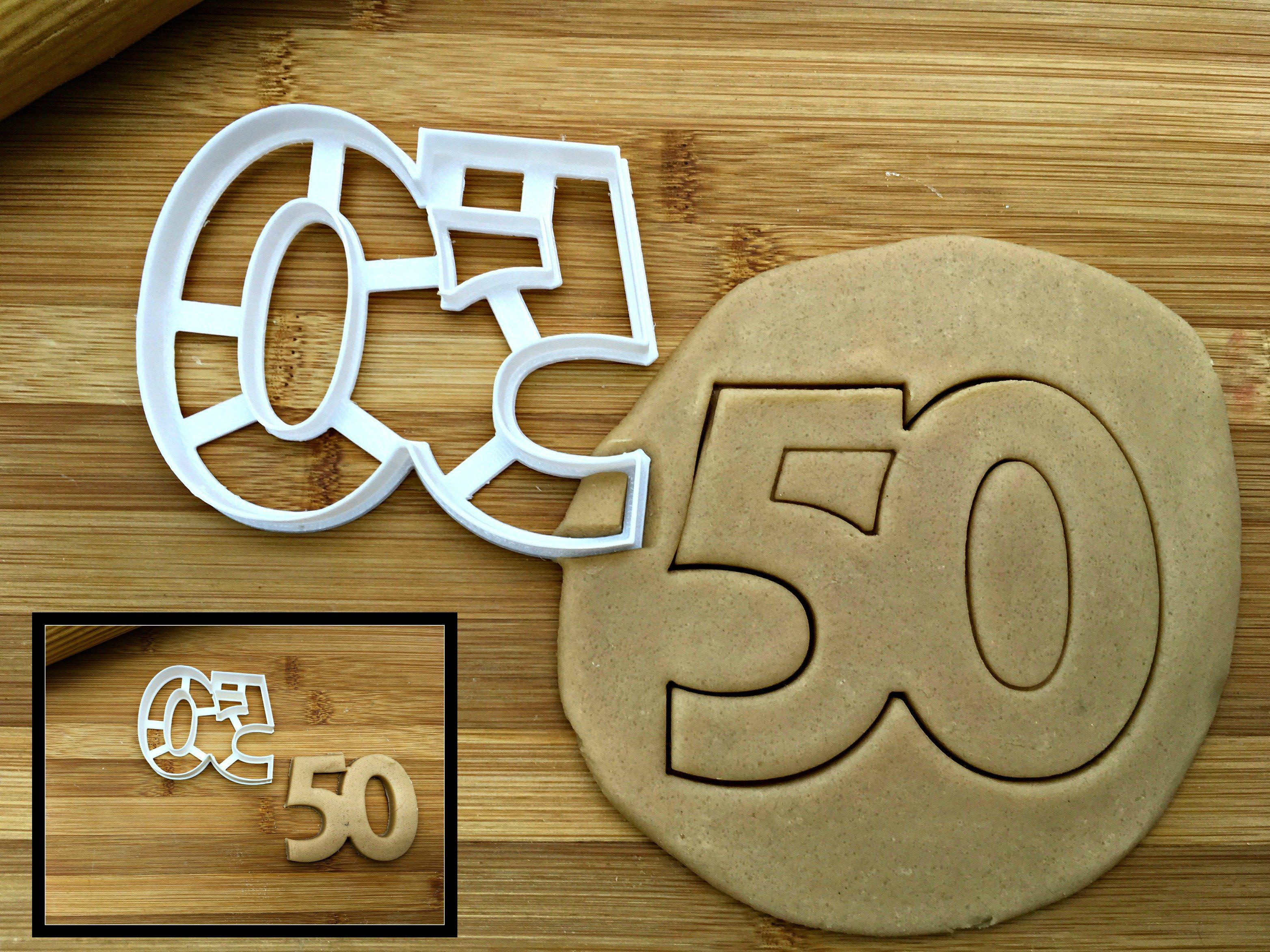 Number 50 Cookie Cutter
