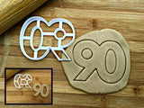 Number 90 Cookie Cutter