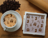 Christmas Mix Cookie Stencil/Coffee Stencil
