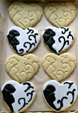 Set of 2 Dog and Cat Heart Cookie Cutters/Dishwasher Safe
