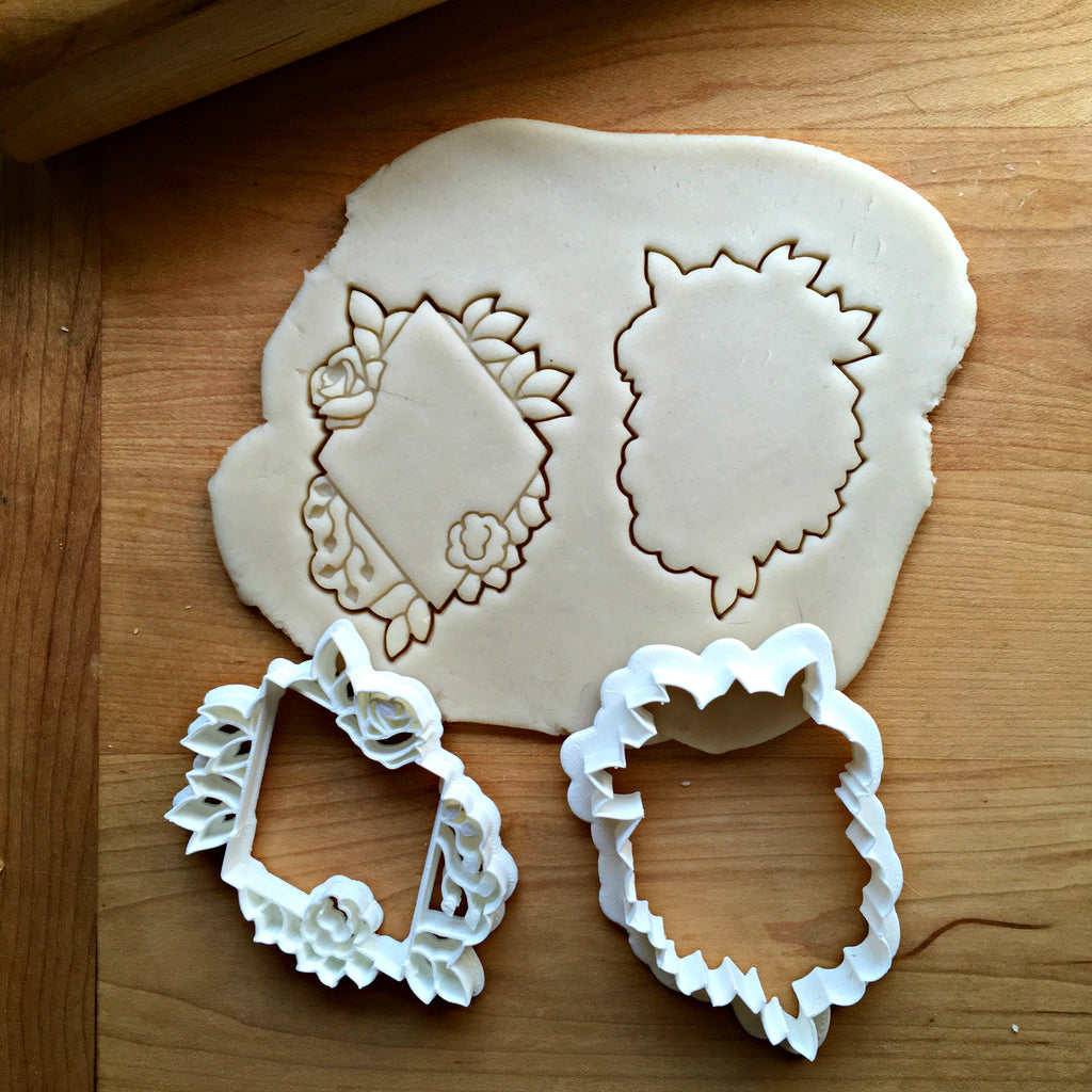 Set of 2 Floral Diamond Cookie Cutters/Dishwasher Safe