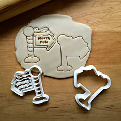 Set of 2 North Pole Cookie Cutters/Dishwasher Safe