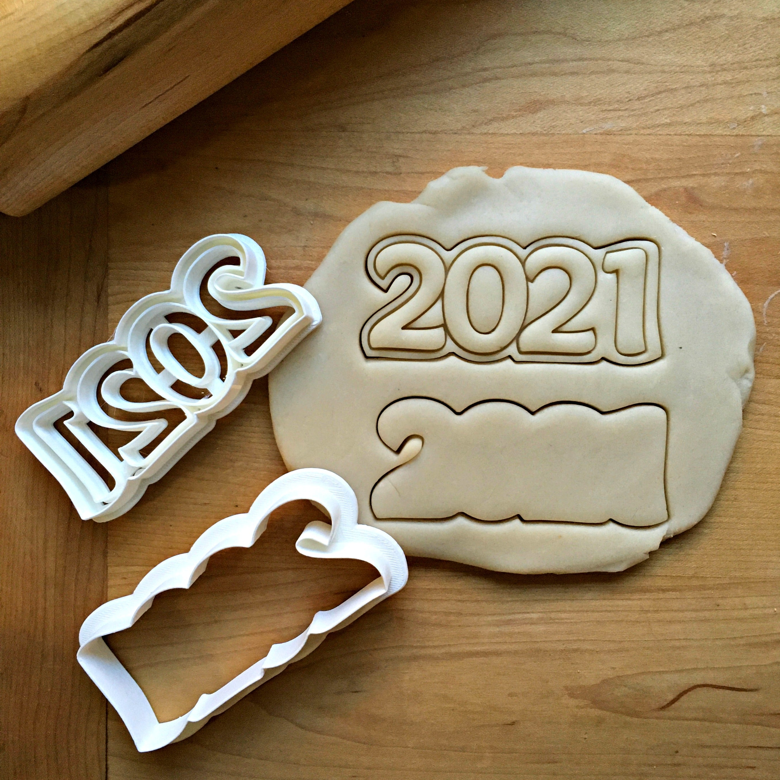Set of Two 2021 Cookie Cutters/Dishwasher Safe