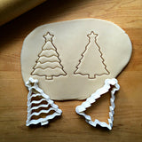 Set of 2 Christmas Tree with Star Cookie Cutters/Dishwasher Safe