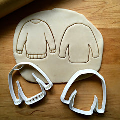 Set of 2 Sweater Cookie Cutters/Dishwasher Safe
