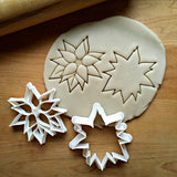 Set of 2 Christmas Poinsettia Cookie Cutters/Dishwasher Safe