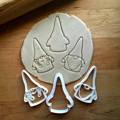 Set of 3 Gnome Cookie Cutters/Dishwasher Safe