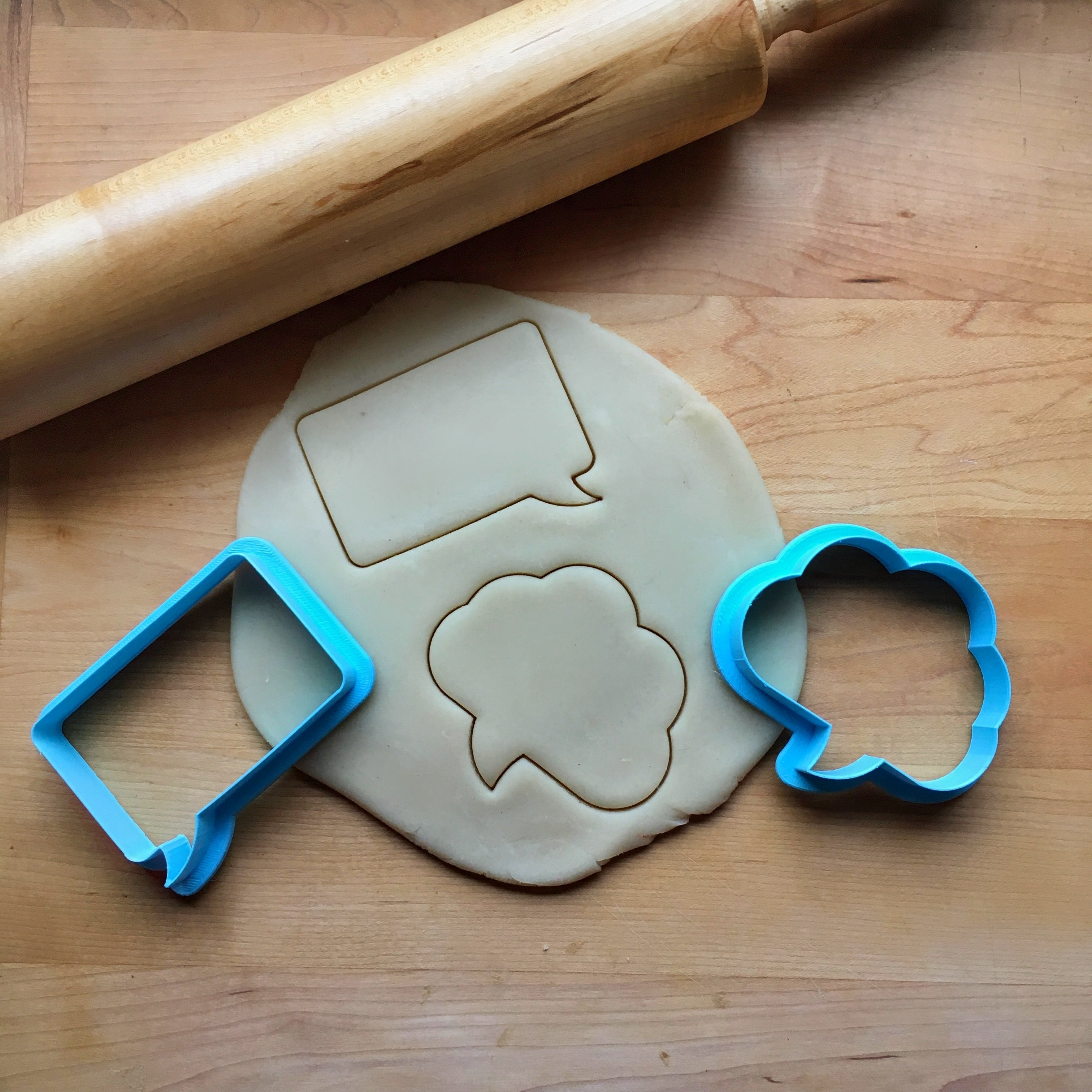 Set of 2 Speech Bubble Cookie Cutters/Dishwasher Safe