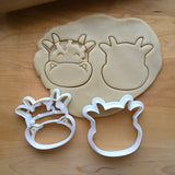 Set of 2 Cow Cookie Cutters/Dishwasher Safe