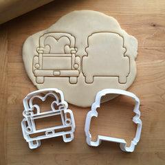 Set of 2 Pickup Truck with Heart Tailgate Cookie Cutters/Dishwasher Safe
