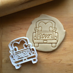 Pickup Truck with Love Tailgate Cookie Cutter/Dishwasher Safe