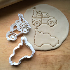 Set of 2 Easter Pickup Truck Cookie Cutters/Dishwasher Safe