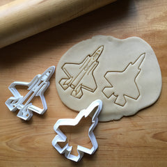 Set of 2 Stealth Fighter Jet 2 Cookie Cutters/Multi-Size/Dishwasher Safe