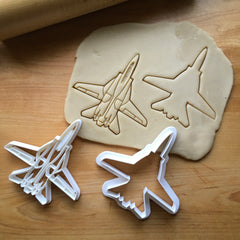 Set of 2 Navy Fighter Jet 3 Cookie Cutters/Multi-Size/Dishwasher Safe