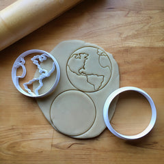 Set of 2 Earth/World Cookie Cutters/Dishwasher Safe