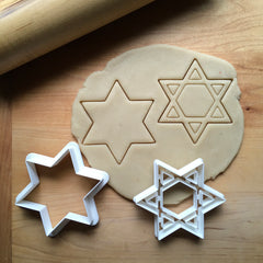Set of 2 Star of David Cookie Cutters/Dishwasher Safe