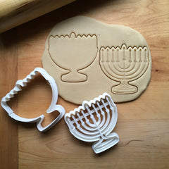 Set of 2 Menorah Cookie Cutters/Dishwasher Safe