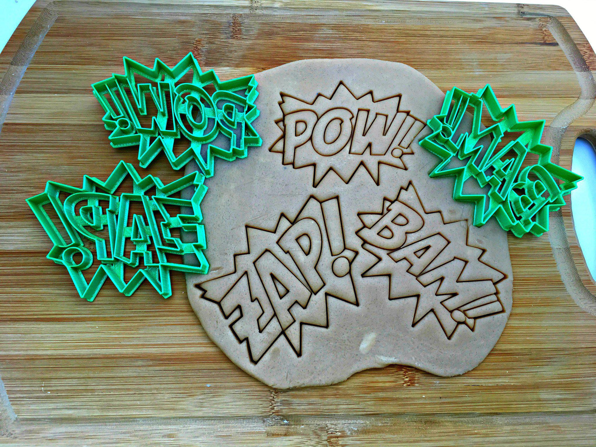 Super Hero Words Cookie Cutter