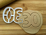 Number 30 Cookie Cutter