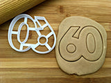 Number 60 Cookie Cutter