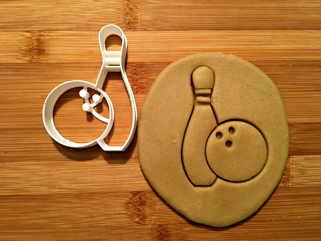 Bowling Pin and Ball Cookie Cutter/Dishwasher Safe