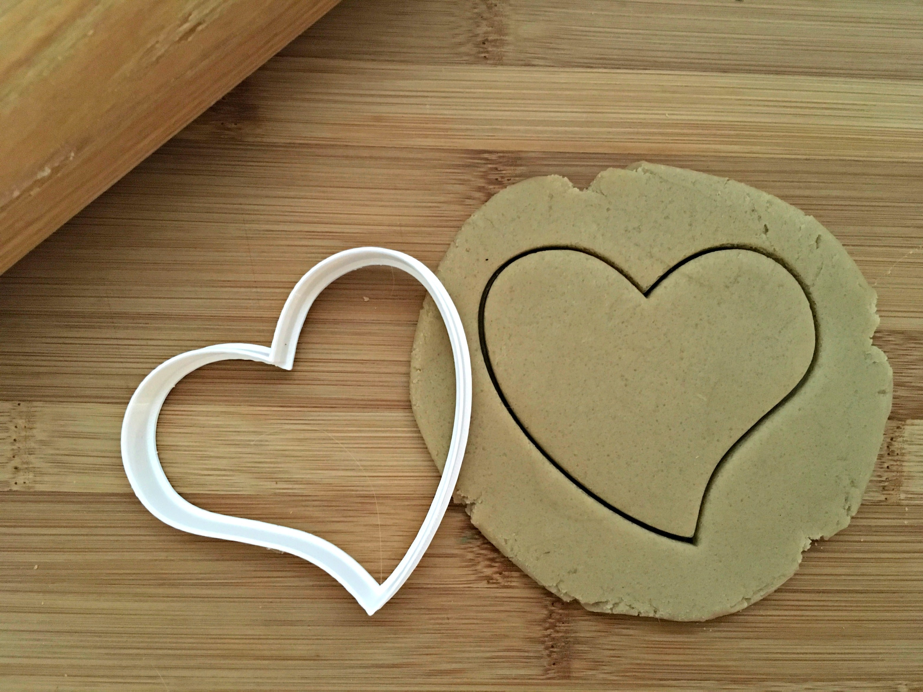 Canted Heart Cookie Cutter/Dishwasher Safe