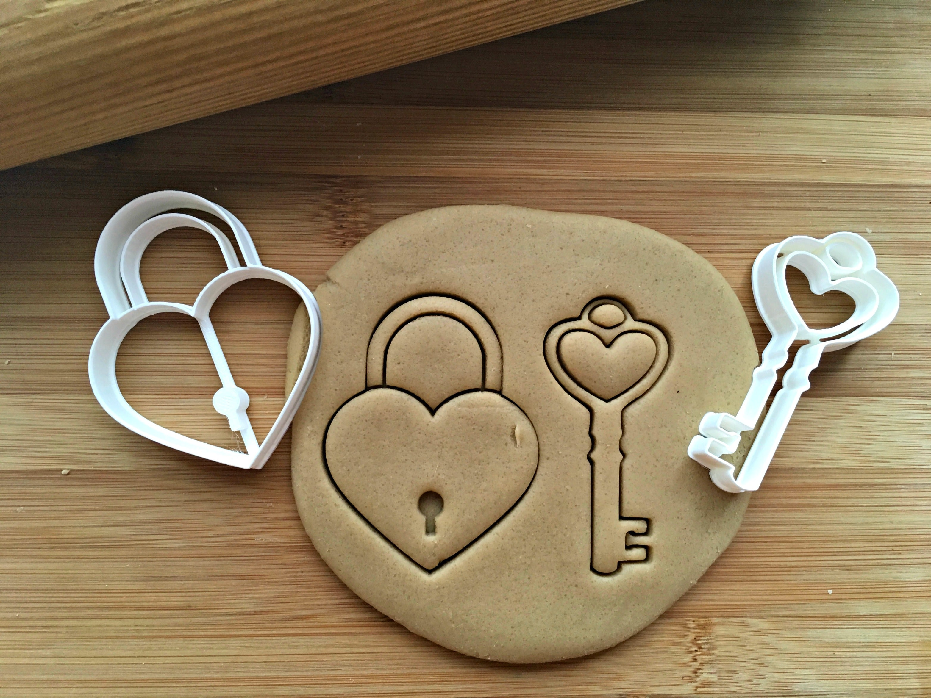 Heart and Key Cookie Cutters