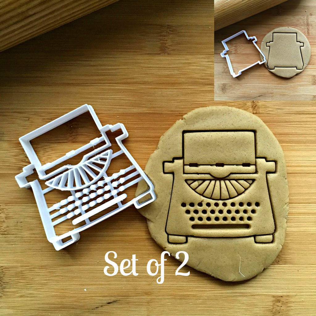 Set of 2 Typewriter Cookie Cutters