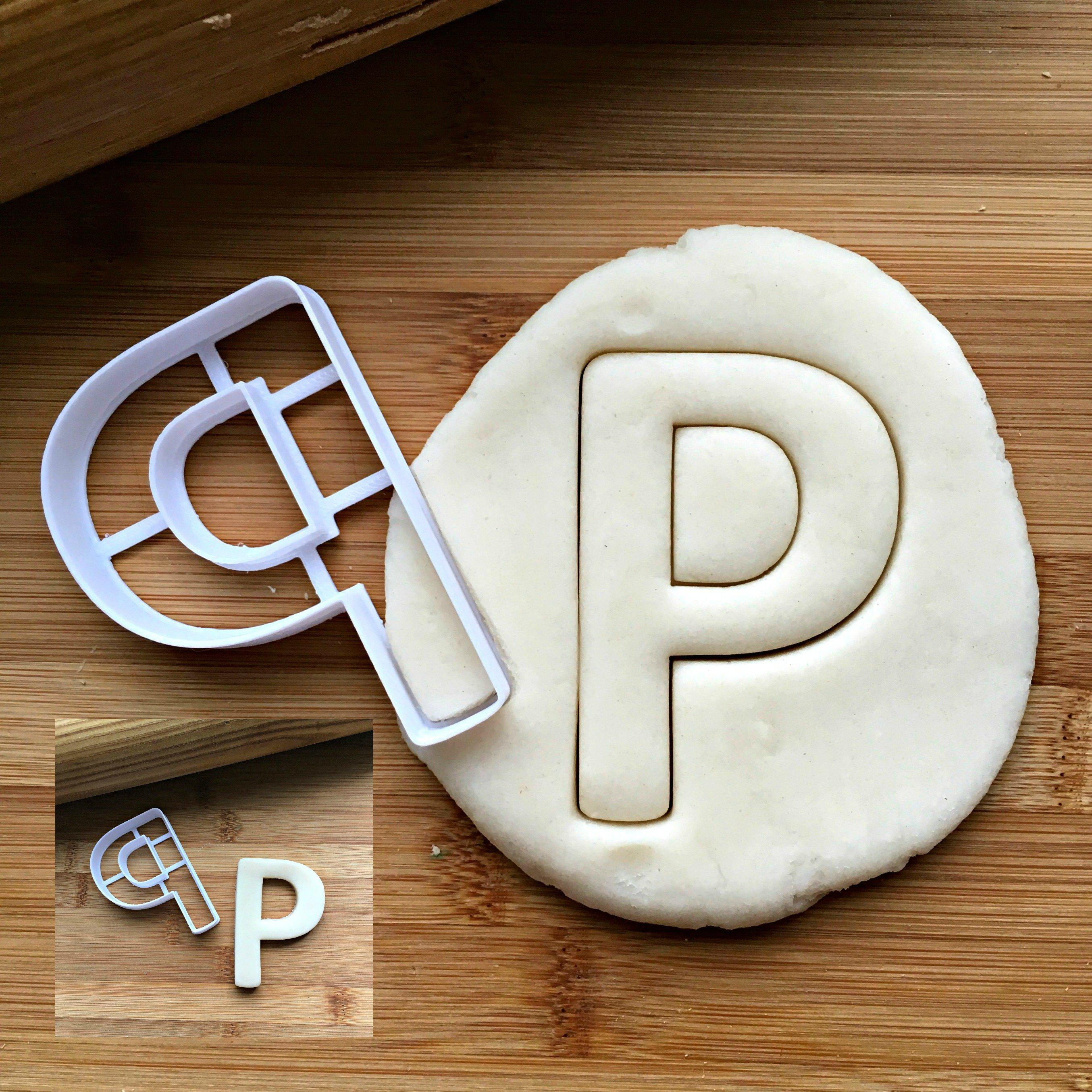 Letter P Cookie Cutter/Dishwasher Safe