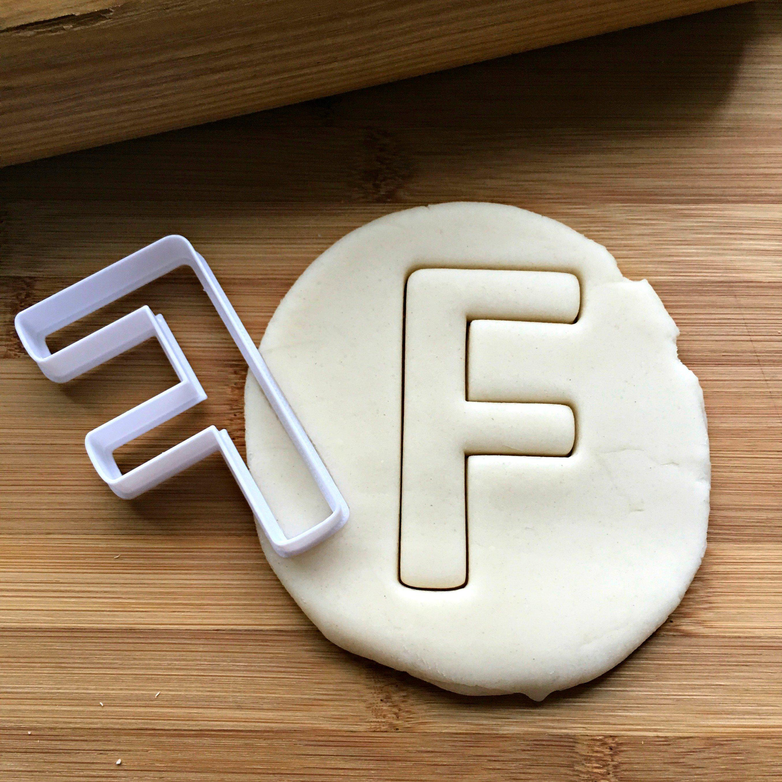 Letter F Cookie Cutter/Dishwasher Safe