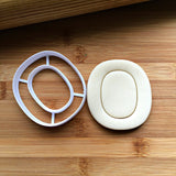 Letter O Cookie Cutter/Creates an Imprint of the Center/Dishwasher Safe