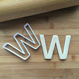 Letter W Cookie Cutter/Dishwasher Safe