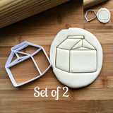 Set of 2 Milk Carton Cookie Cutters