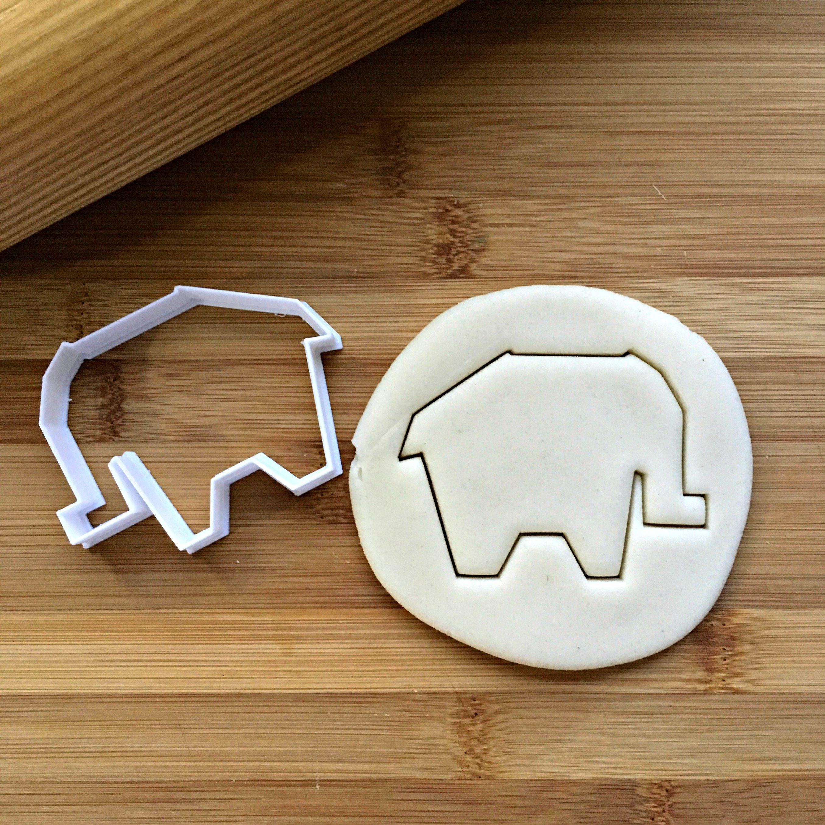Origami Elephant Cookie Cutter