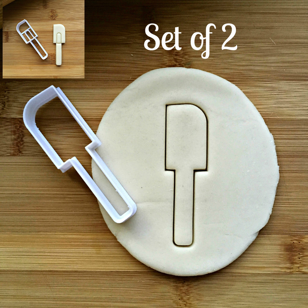 Set of 2 Spatula Cookie Cutters/Dishwasher Safe