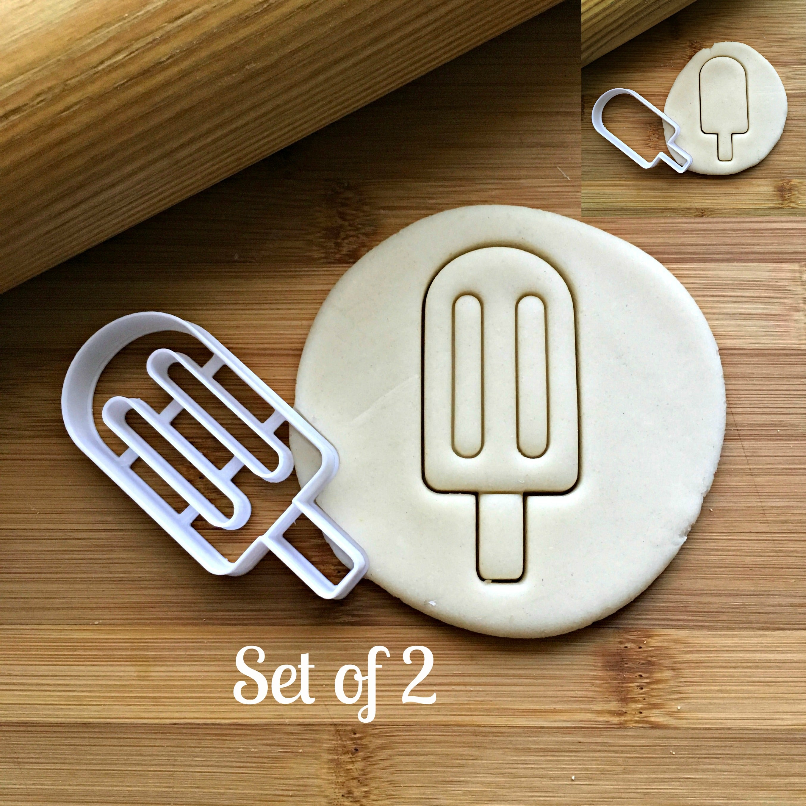 Set of 2 Popsicle Cookie Cutters