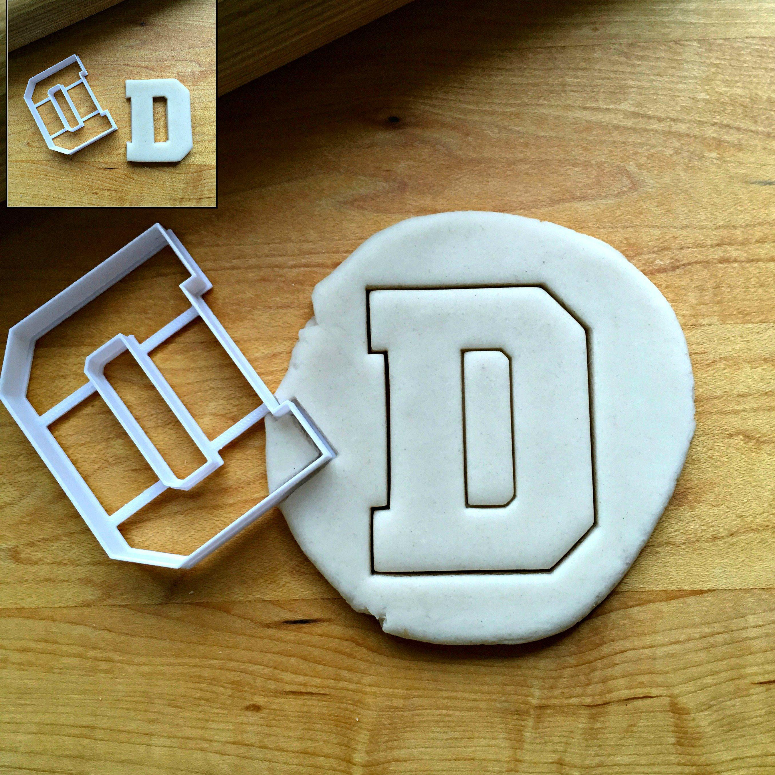 Varsity Letter D Cookie Cutter/Dishwasher Safe