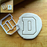 Varsity Letter D Cookie Cutter