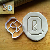 Varsity Letter Q Cookie Cutter/Dishwasher Safe