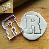 Varsity Letter R Cookie Cutter