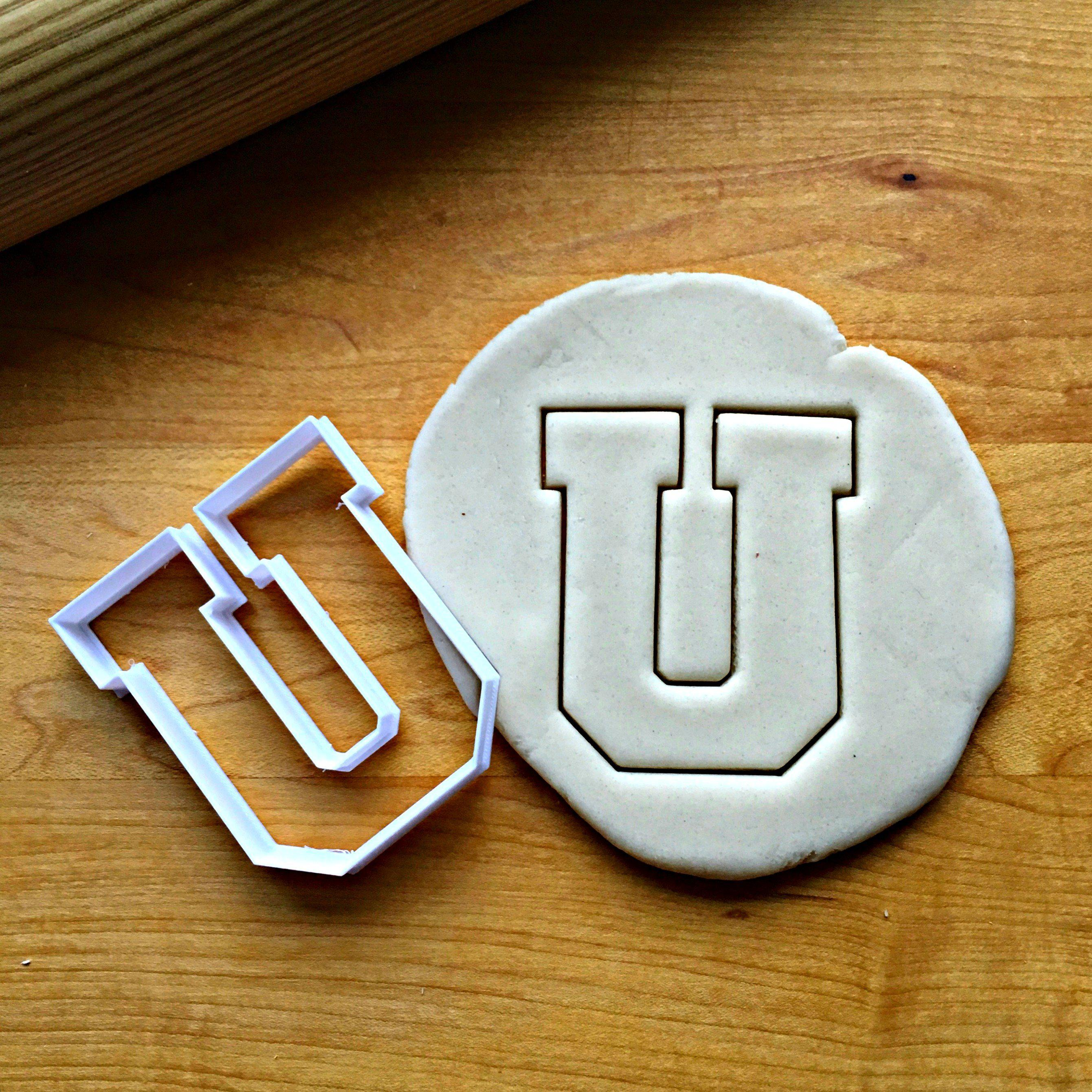 Varsity Letter U Cookie Cutter/Dishwasher Safe