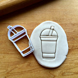 Iced Coffee with Straw  Cookie Cutter/Dishwasher Safe